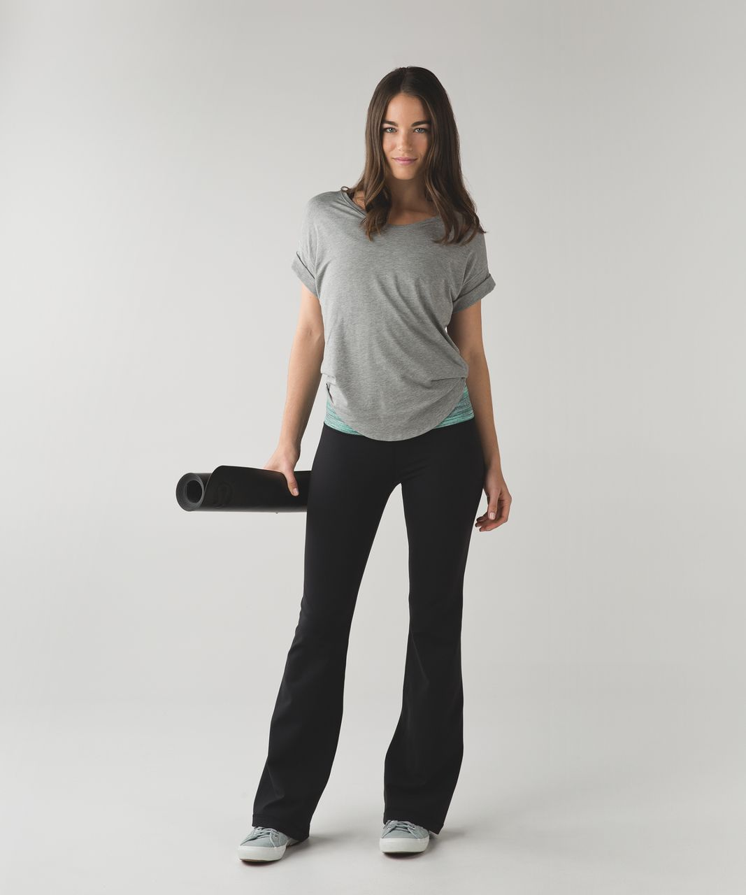 Lululemon Groove Pant III (Regular) *Full-On Luon - Black / Space Dye Camo Forage Teal Black