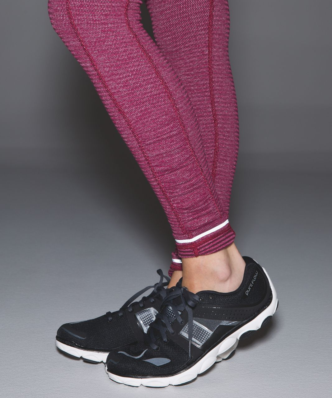 Lululemon Speed Tight IV *Rulu - Mini Check Pique Bordeaux Drama Heathered Berry Rumble