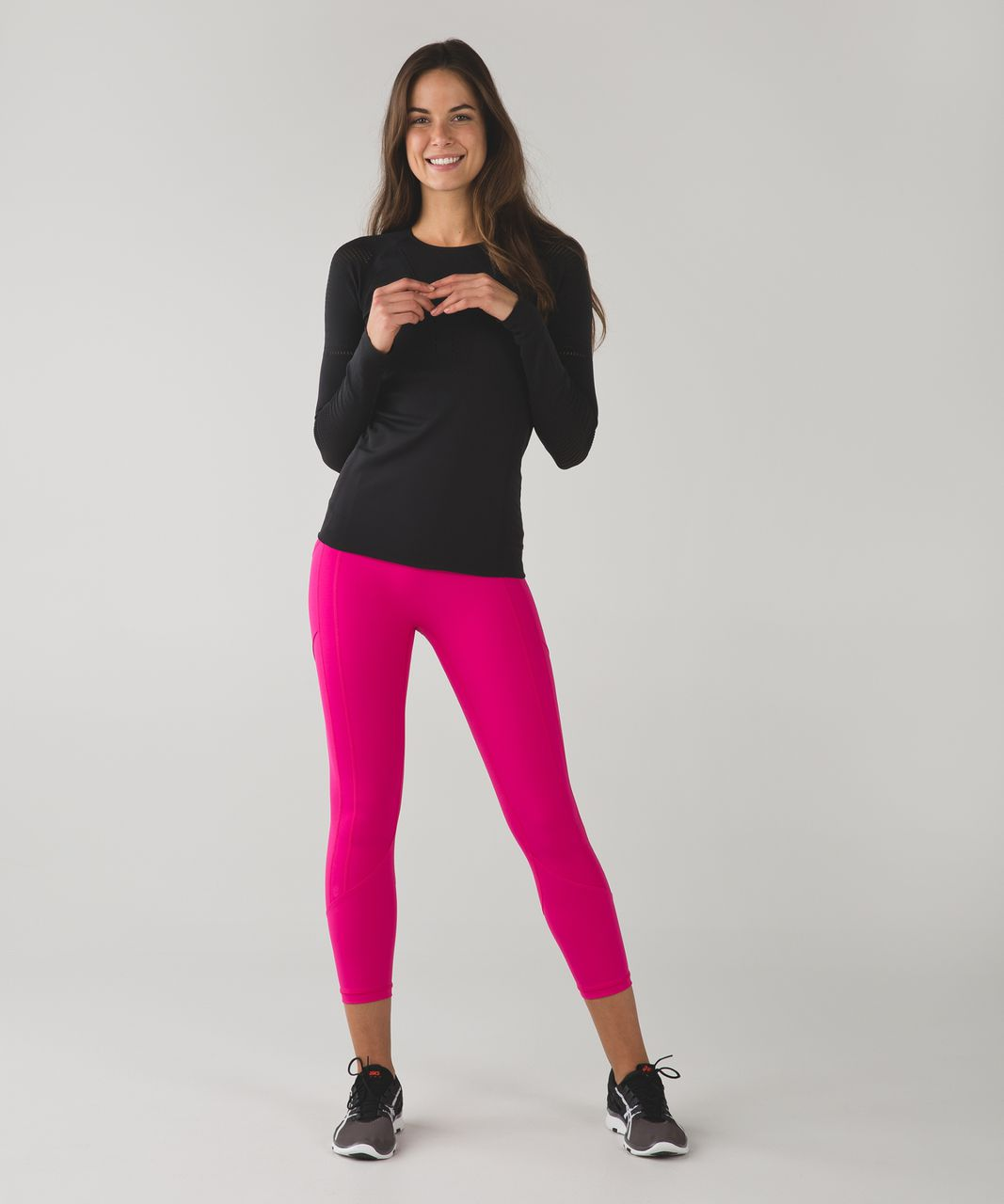 Lululemon All The Right Places Crop - Jewelled Magenta