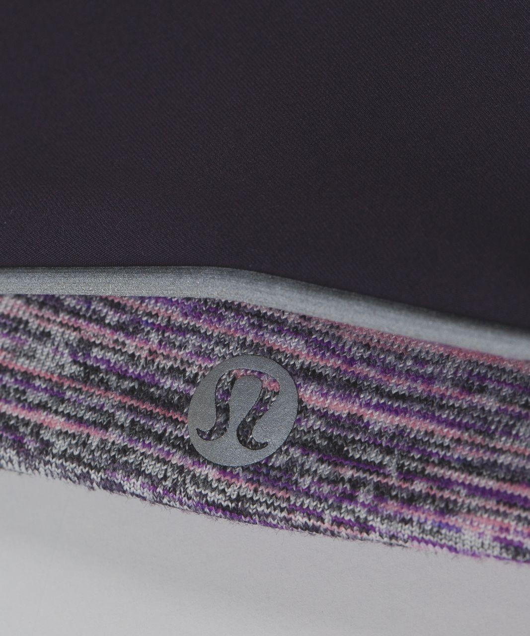 Lululemon Run And Done Ear Warmer *Softshell - Space Dye Camo Tender Violet Black Grape / Black Grape