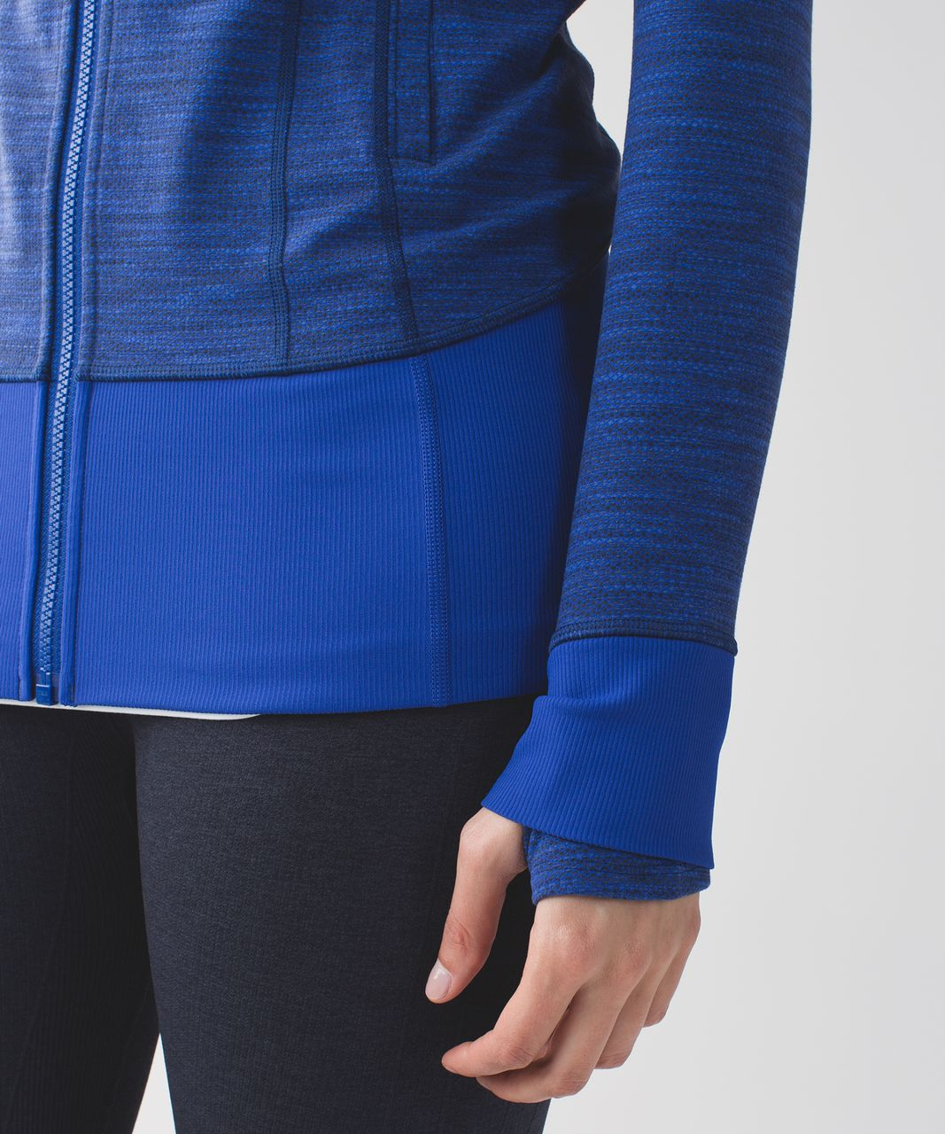 Lululemon Daily Practice Jacket - Diamond Jacquard Space Dye Sapphire Blue Naval Blue / Sapphire Blue
