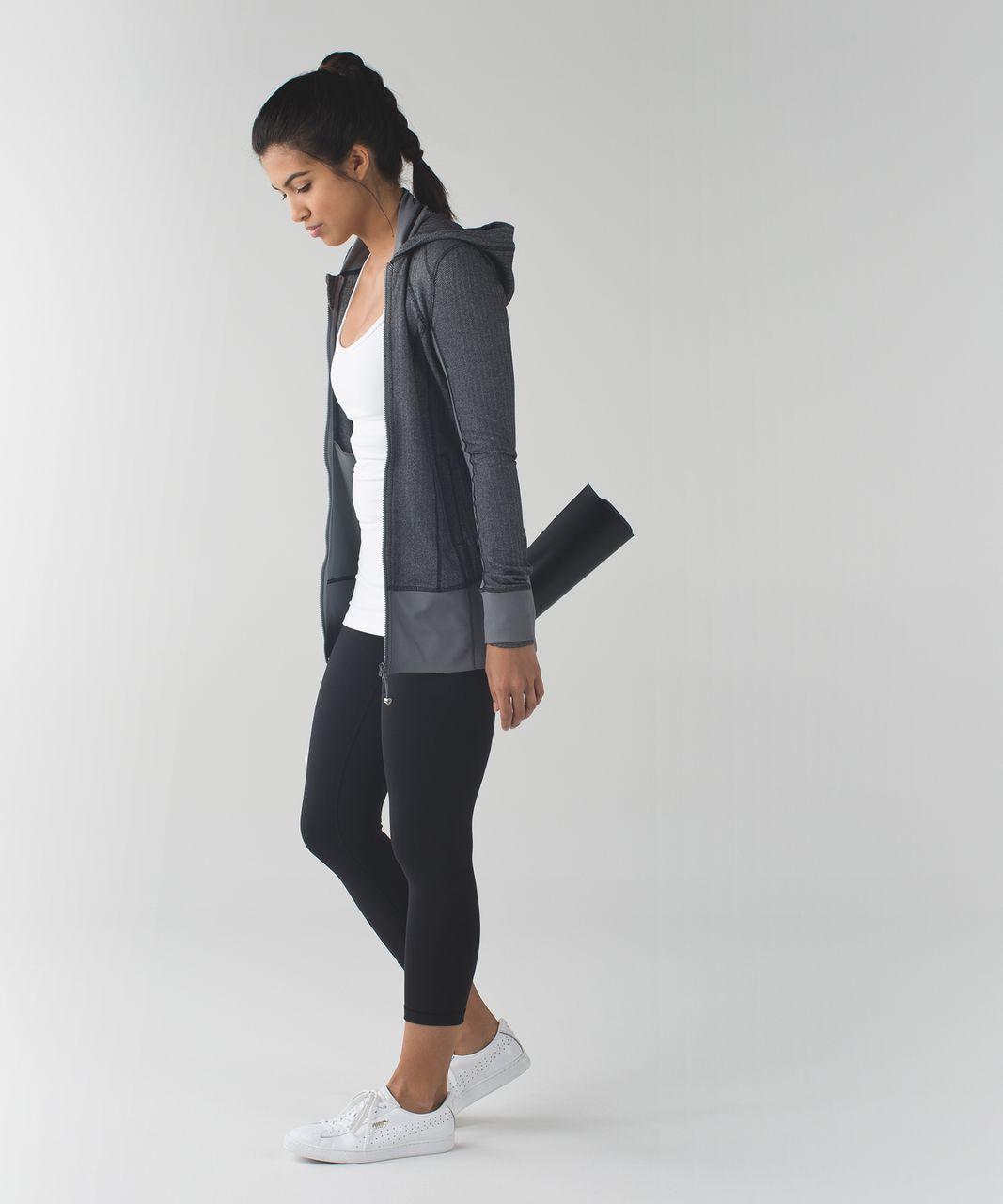 Lululemon Daily Practice Jacket - Heathered Herringbone Heathered Slate Black / Slate