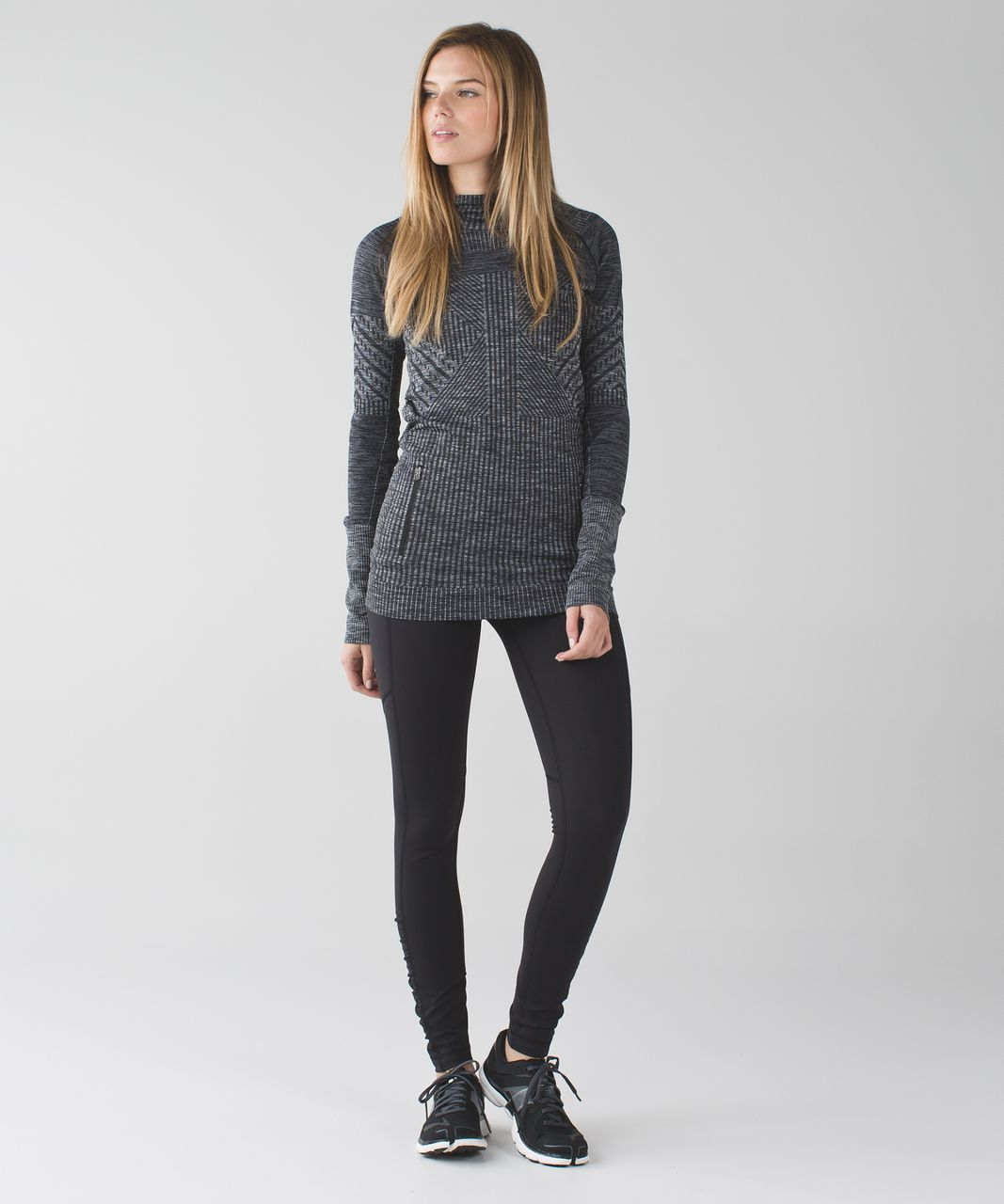 Lululemon Speed Tight IV *Brushed - Black / Shadow Wrap Multi