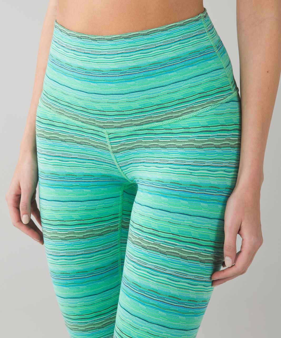 Lululemon Wunder Under Pant (Hi-Rise) - Space Dye Twist 6 Colour Dragonfly Naval Blue