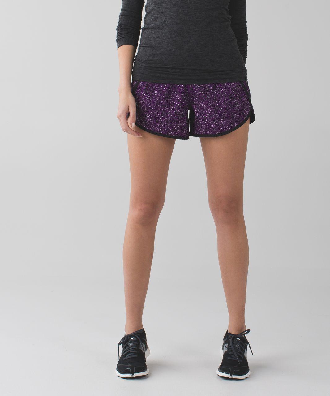 Lululemon Tracker Short III *4-way Stretch - Flashback Static Powered Rose Tender Violet / Black