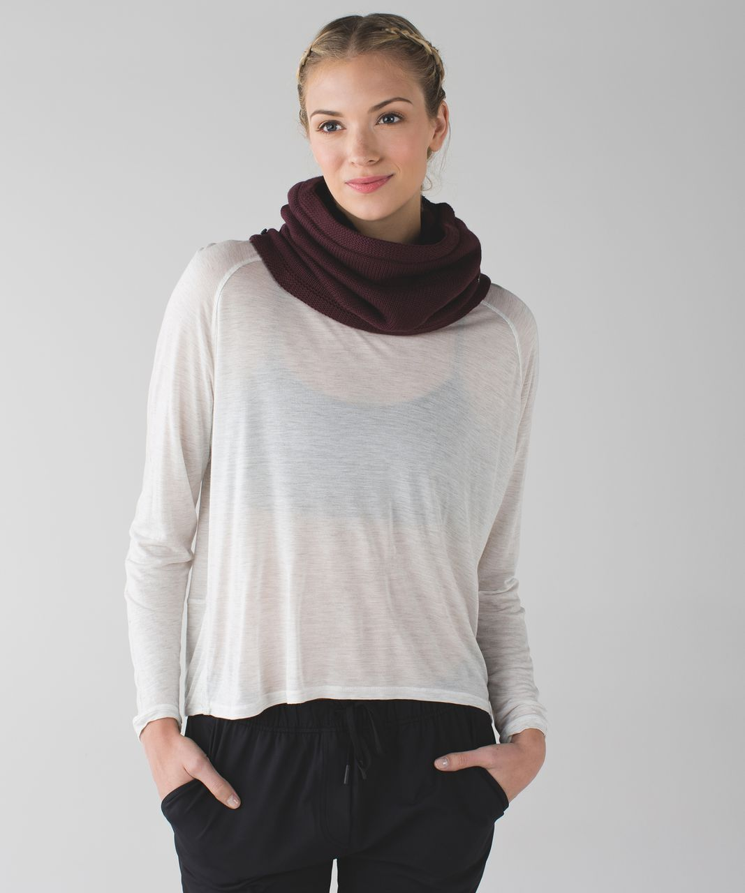 Lululemon Snow Amazing Neck Warmer *Sherpa - Bordeaux Drama / Berry Rumble / Bleached Coral