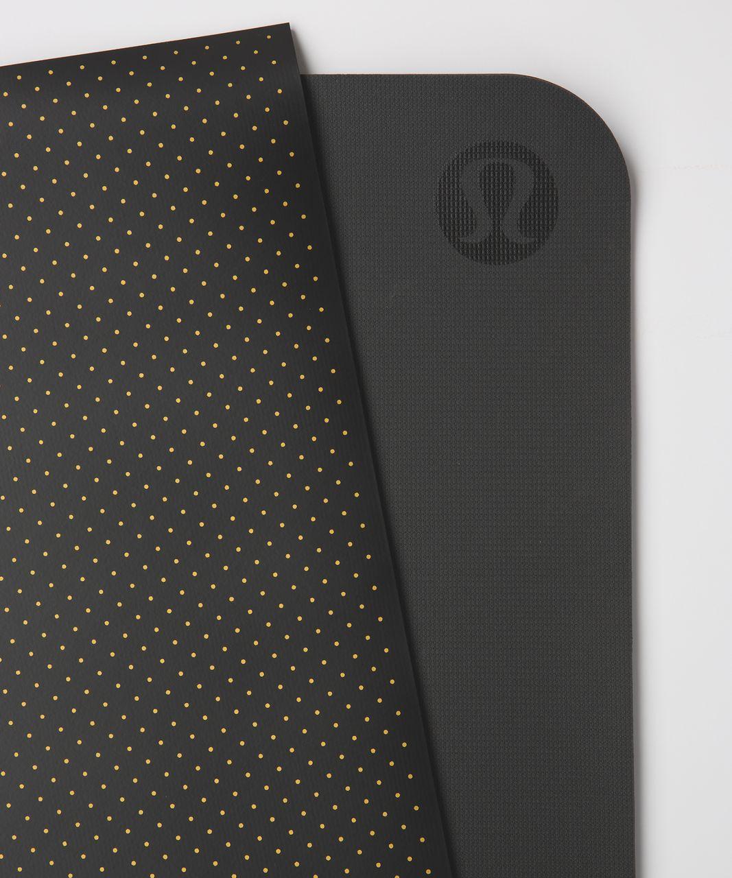 Lululemon The Reversible Mat 5mm - Teeny Dot Black Multi Gold / Black