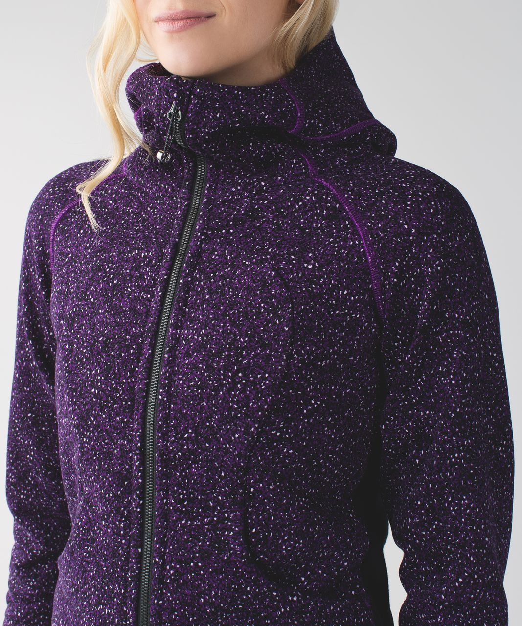 Lululemon Scuba Hoodie III - Flashback Static Powdered Rose Tender Violet / Black