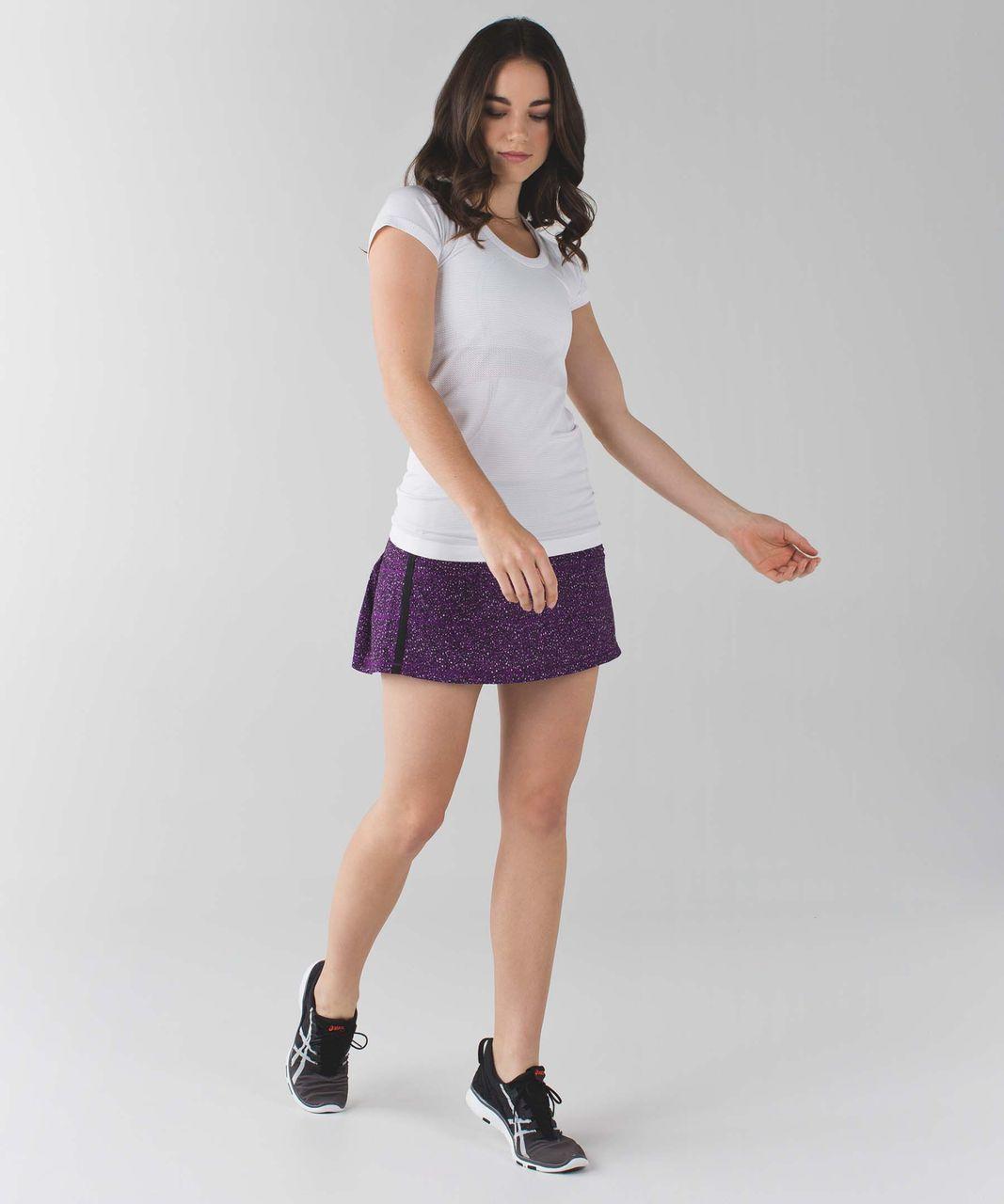 Lululemon Pace Rival Skirt II (Regular) *4-way Stretch - Flashback Static Powdered Rose Tender Violet / Black