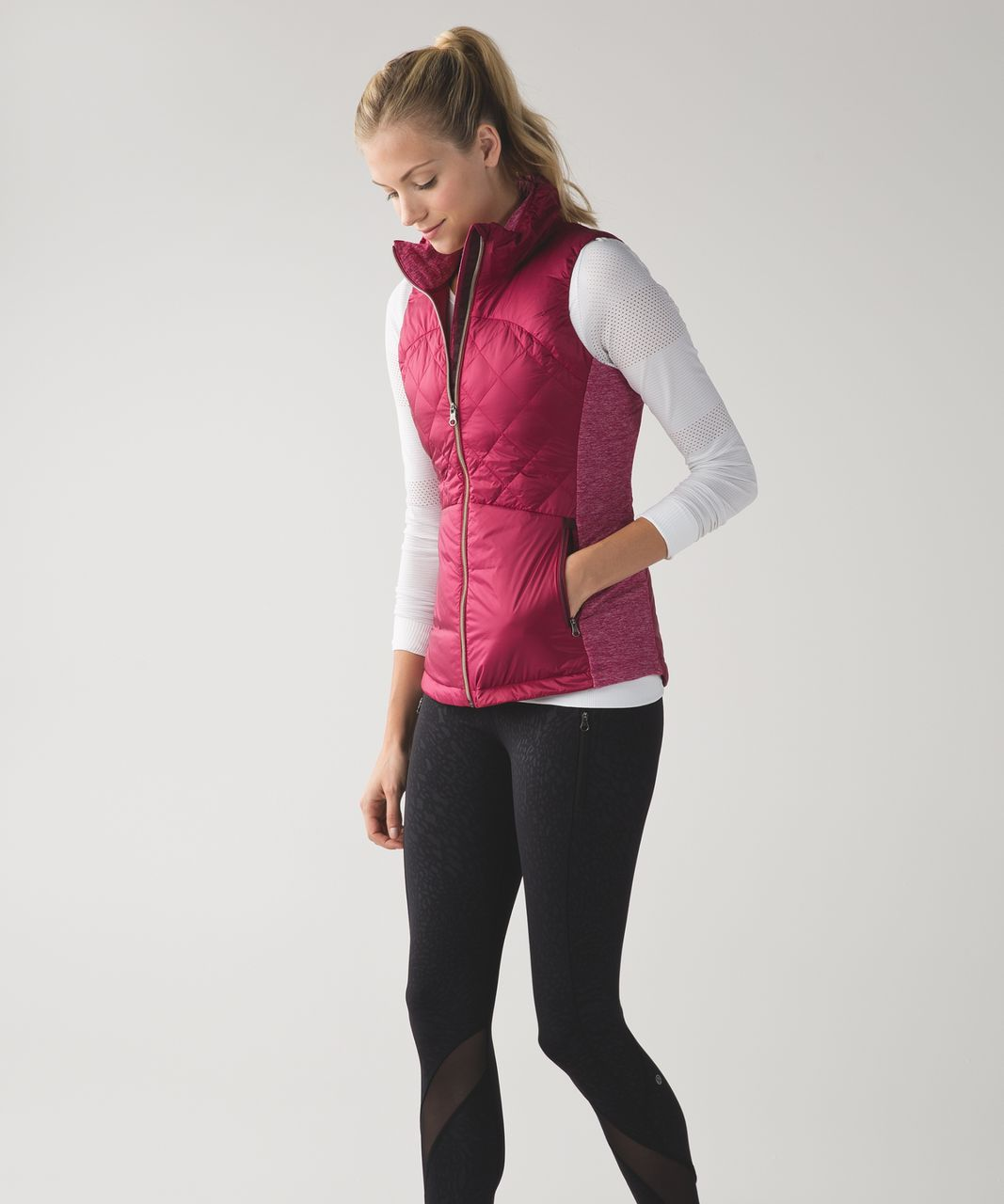 Lululemon Down For A Run Vest - Berry Rumble