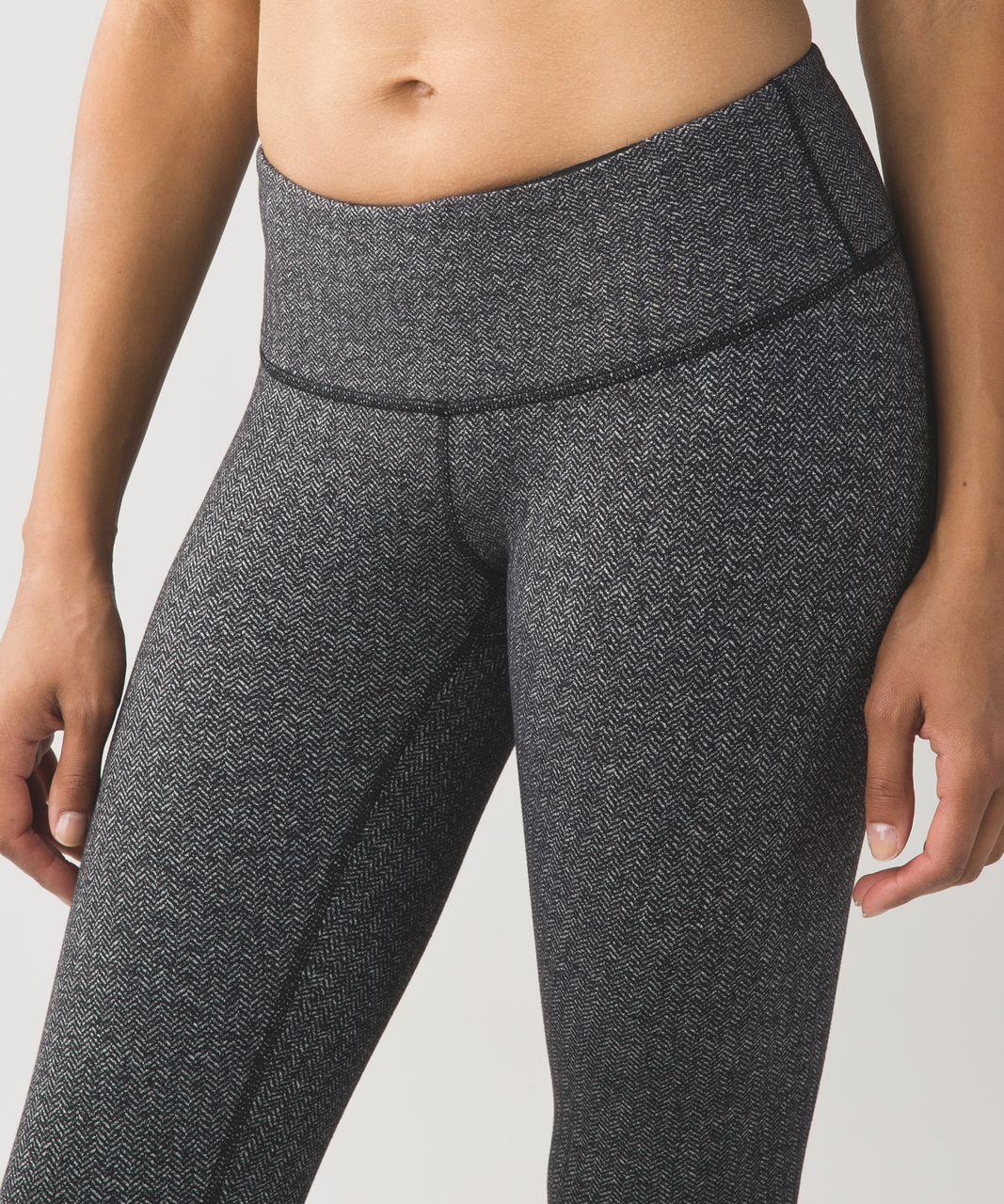 Lululemon Wunder Under Pant III - Heathered Herringbone Heathered Black Black