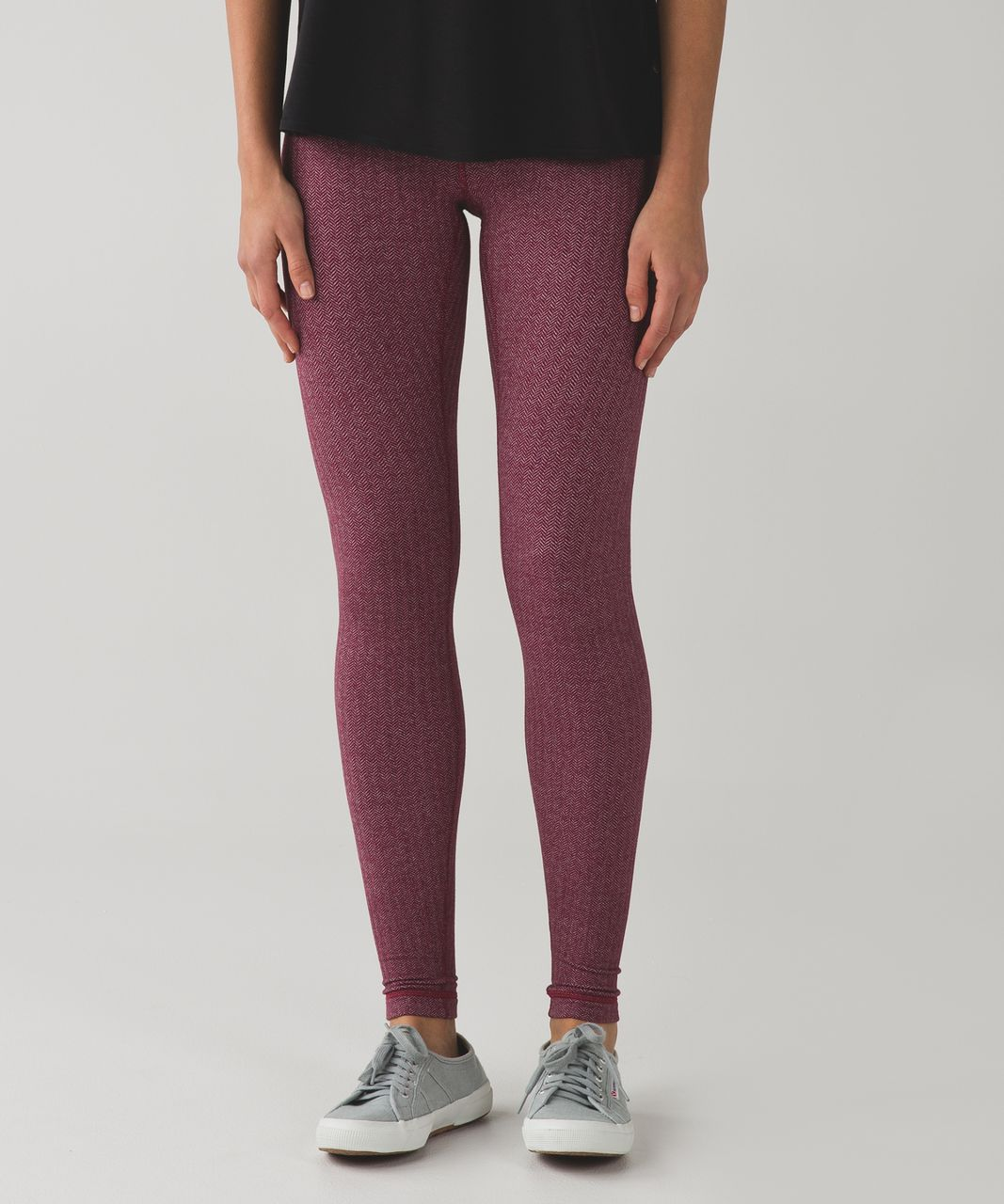 "Lululemon Wunder Under Pant (Hi-Rise) *31"" - Heathered Herringbone Heathered Berry Rumble Bordeaux Drama"