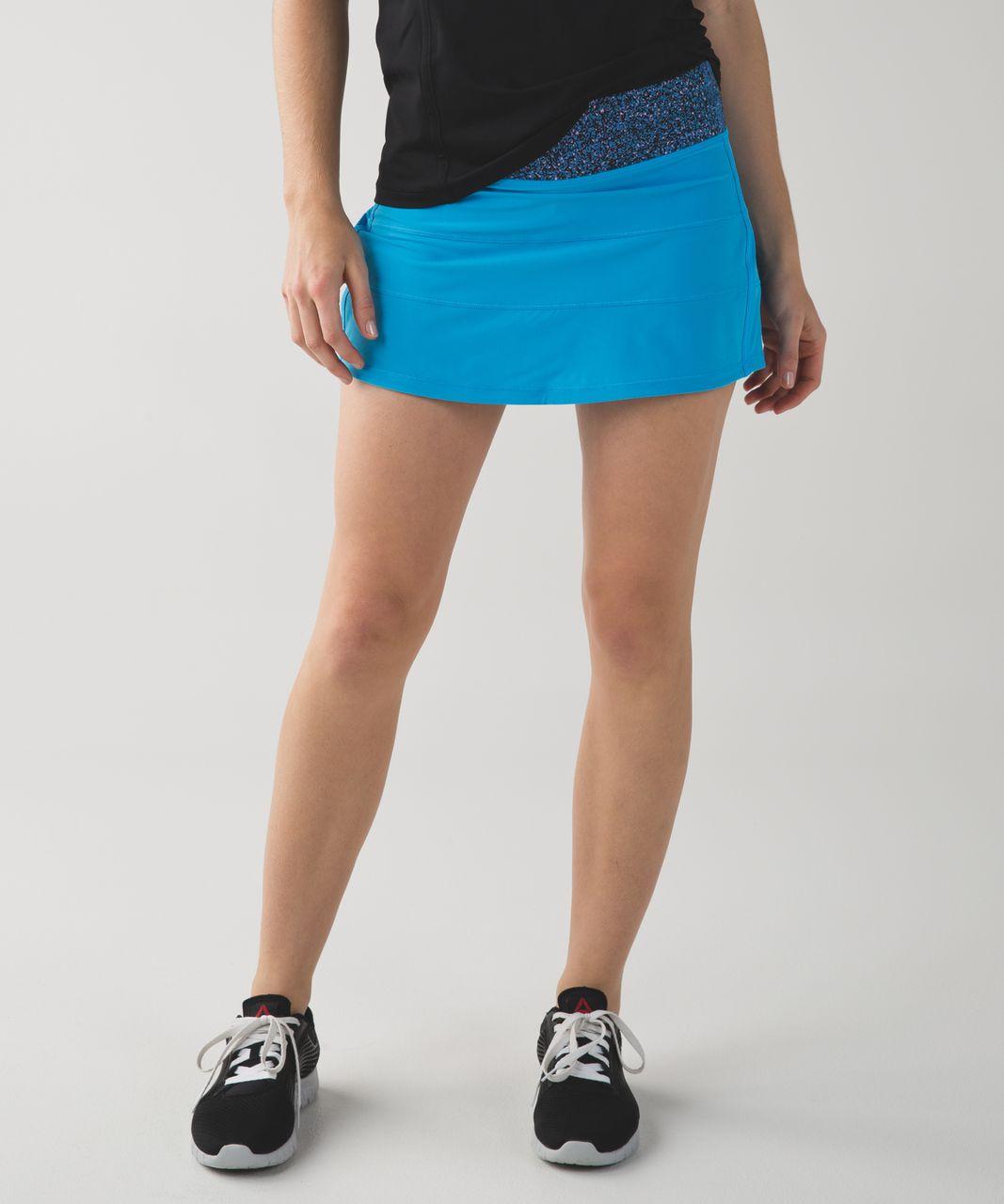 Lululemon Pace Rival Skirt II (Regular) *4-way Stretch - Kayak Blue / Flashback Static Powder Pink Kayak Blue