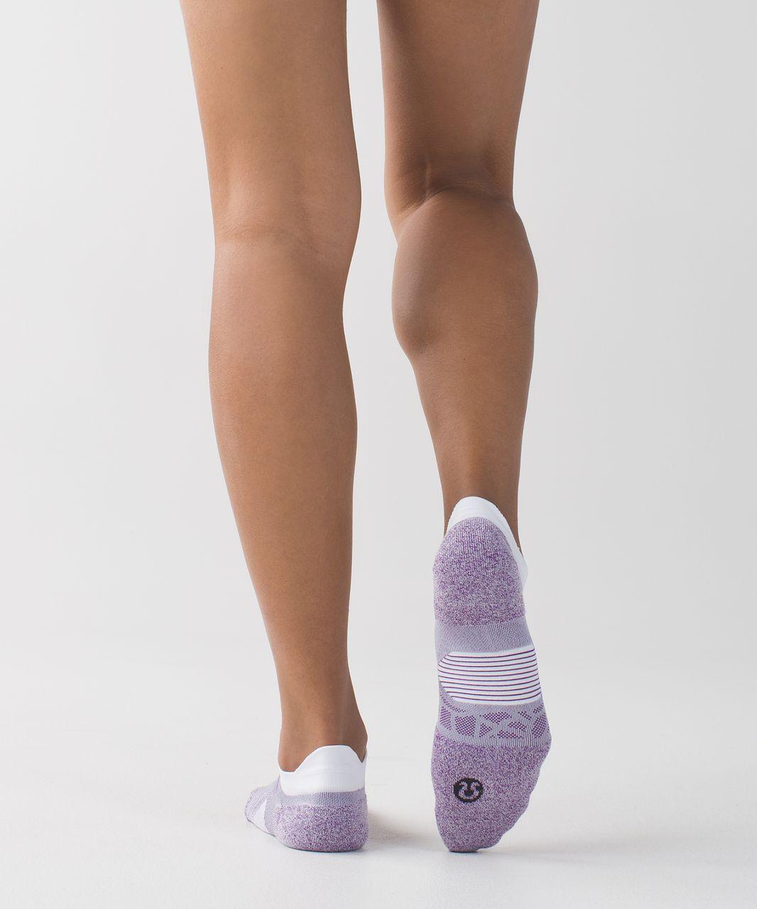 Lululemon Speed Sock *Silver - Tender Violet / Cool Breeze