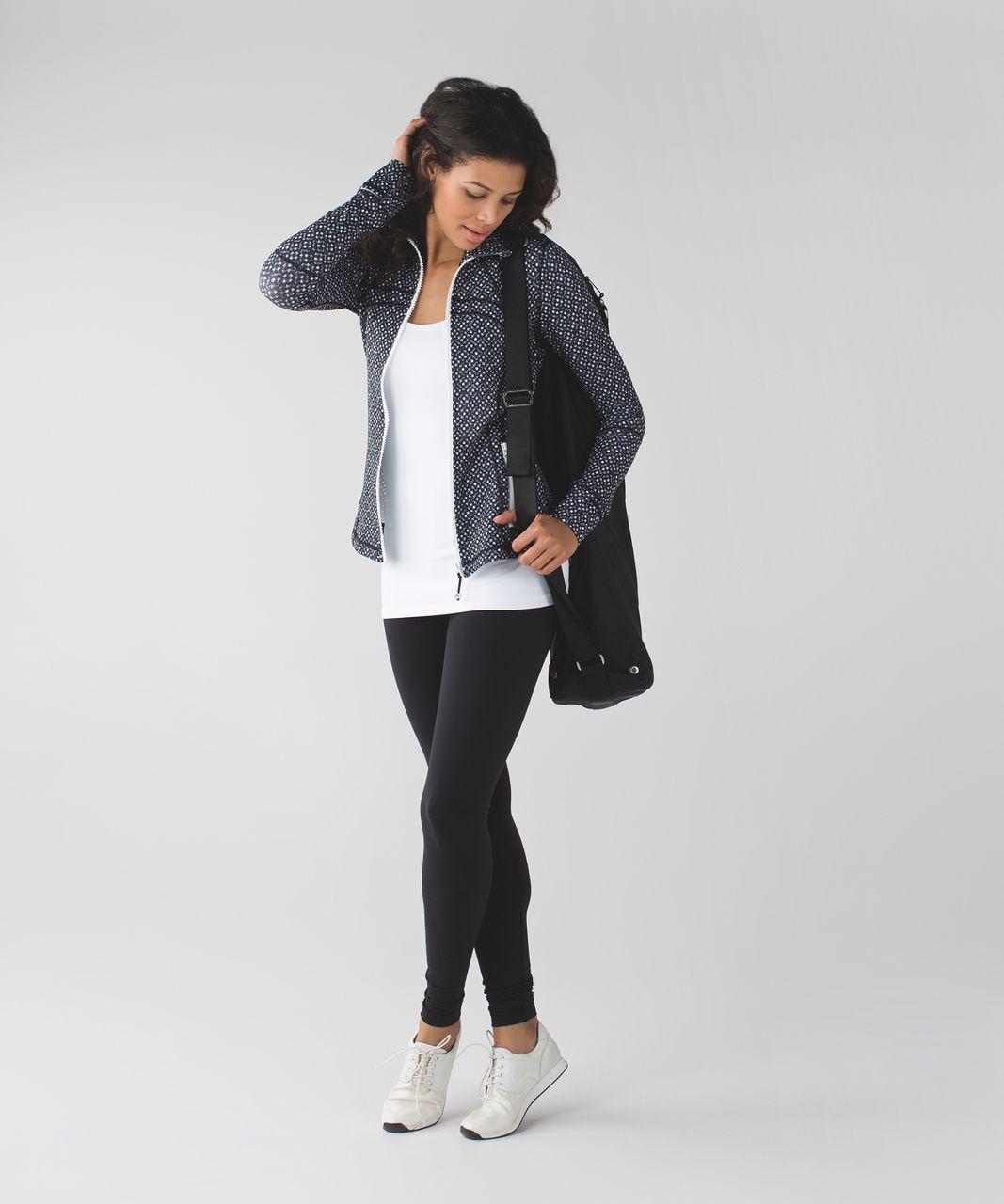 Lululemon Define Jacket - Millie Mesh White Black