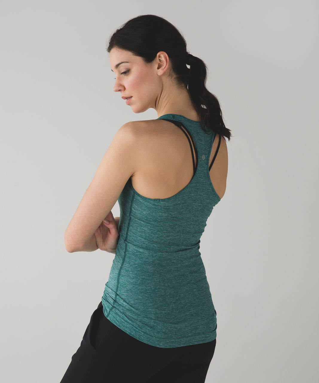 Lululemon Cool Racerback - Heathered Forage Teal