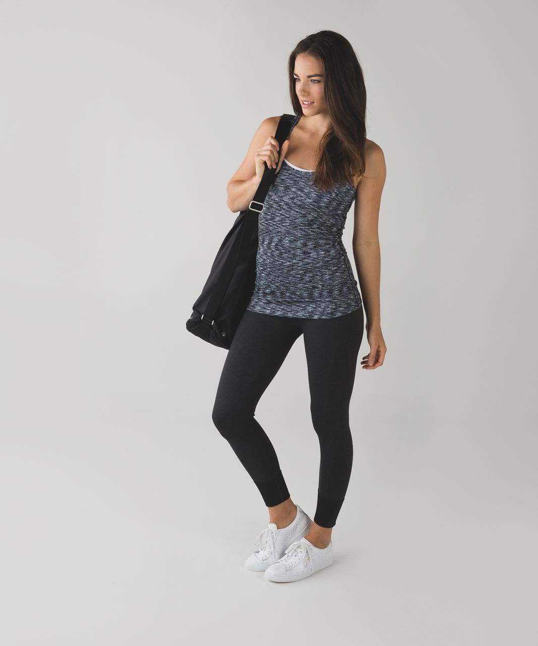 Lululemon Cool Racerback - Dramatic Static White Black