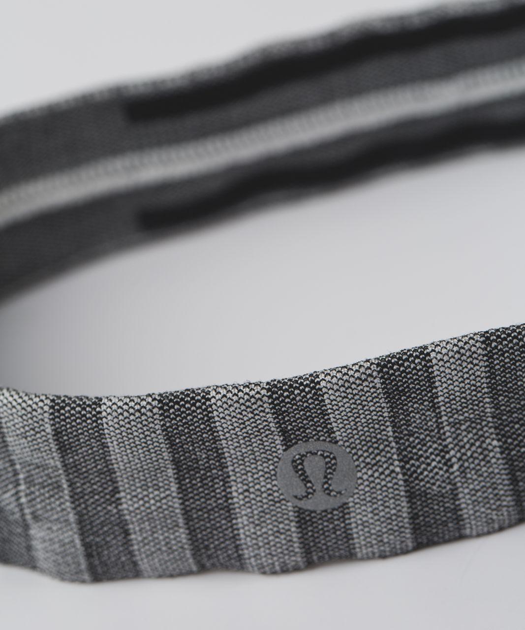 Lululemon Cardio Cross Trainer Headband - Black / Silver Spoon