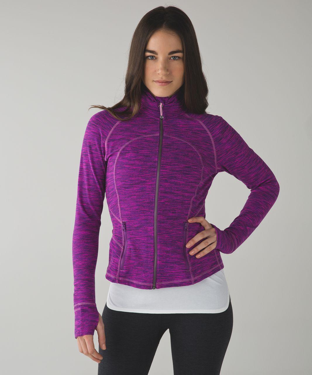 01ed6d550c Lululemon Hustle In Your Bustle Jacket - Diamond Jacquard Space Dye Tender  Violet Raspberry Glo Light