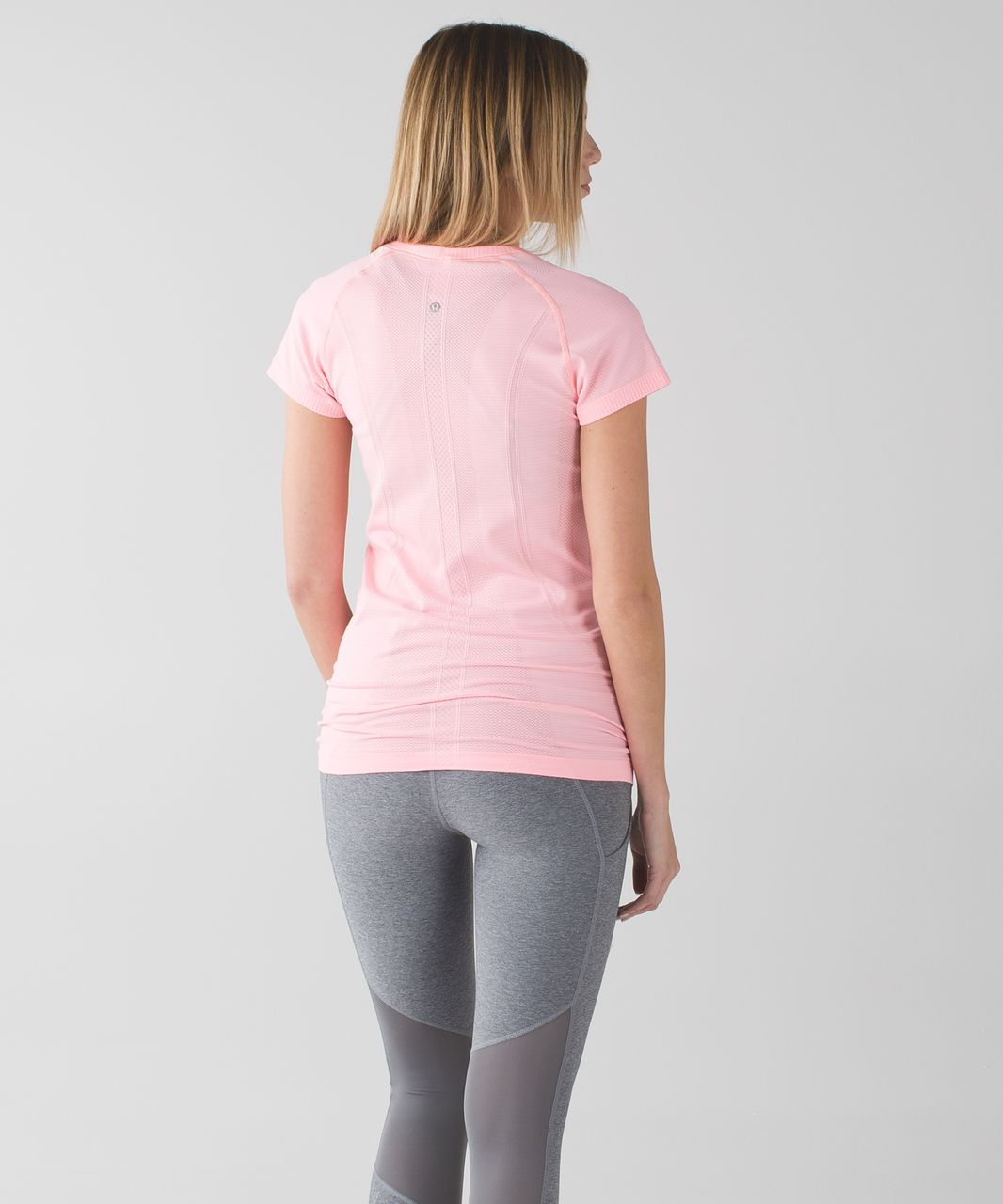 Lululemon Swiftly Tech Short Sleeve Crew - Heathered Bleached Coral