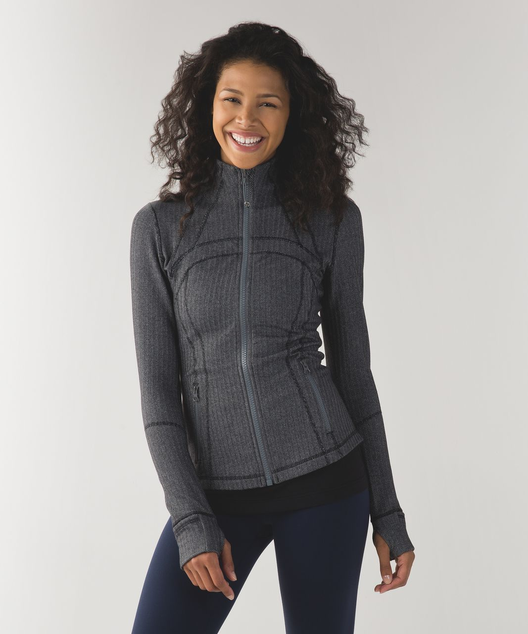 Lululemon Define Jacket - Heathered Herringbone Heathered Slate Black