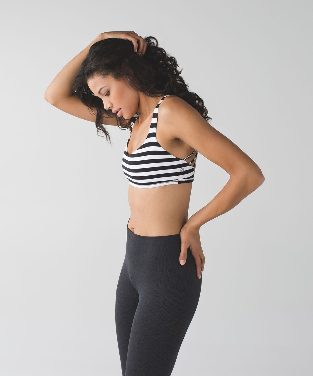 Lululemon Free To Be Bra (Wild) - Apex Stripe Black White / Tonka Stripe Black White