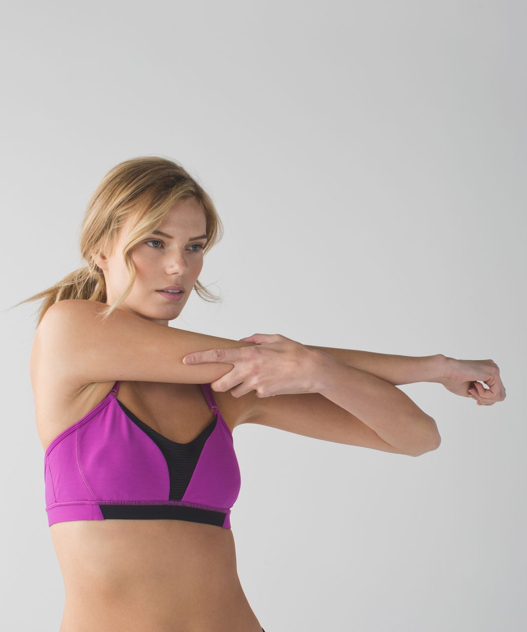 Lululemon Interval Bra *Silver - Ultra Violet / Black