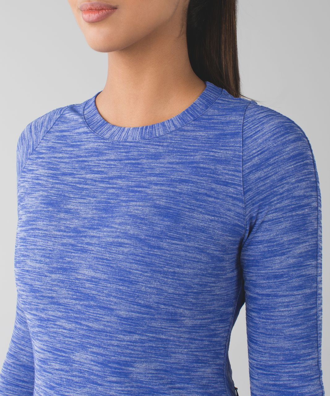 Lululemon &go Where-To Dress *Long Sleeve - Heathered Sapphire Blue