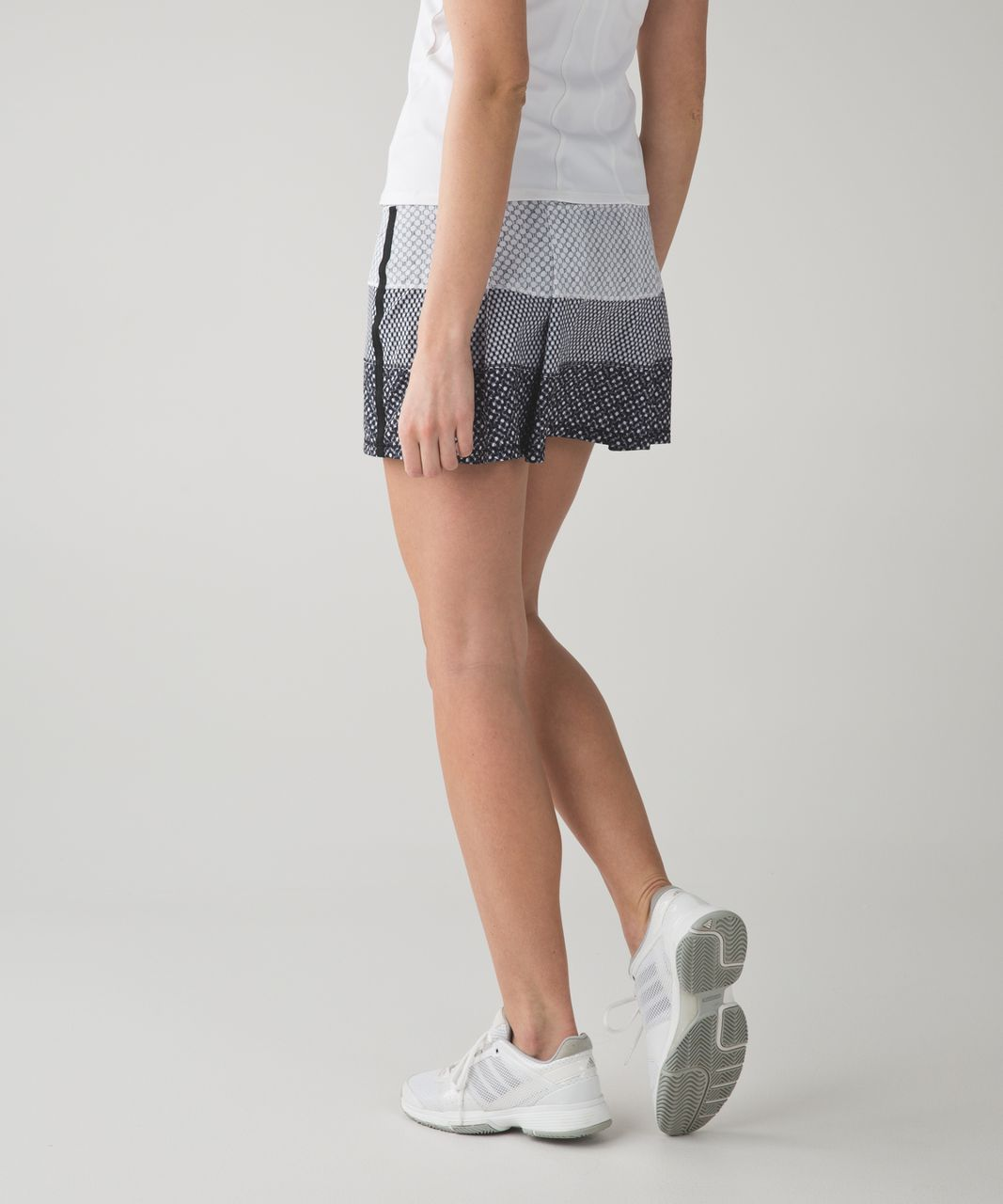 Lululemon Pace Rival Skirt II (Tall) *4-way Stretch - Dottie Eyelet White Black / Mish Mesh White Black / Millie Mesh White Black