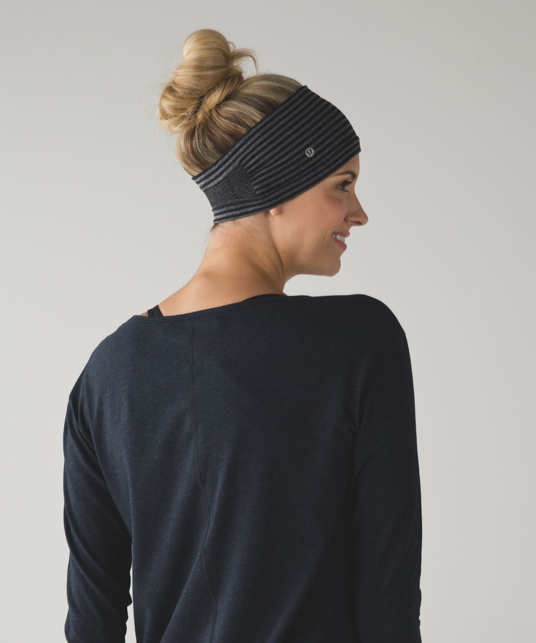 Lululemon Bangs Back Headwrap - Heathered Black (Striped)