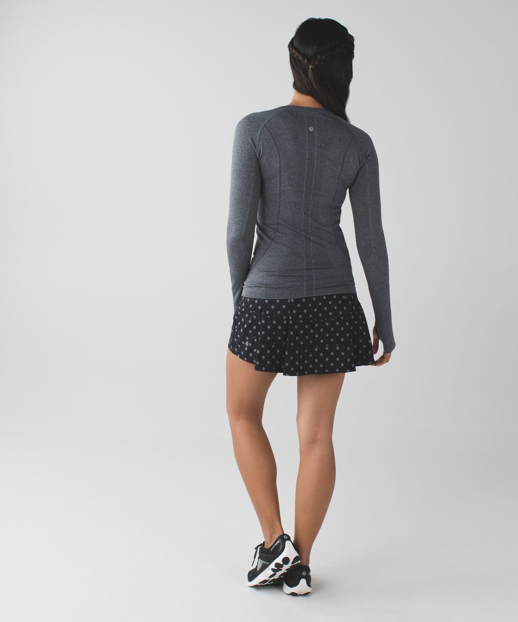Lululemon Pace Rival Skirt II (Tall) *4-way Stretch - Ghost Dot Black Slate / Black