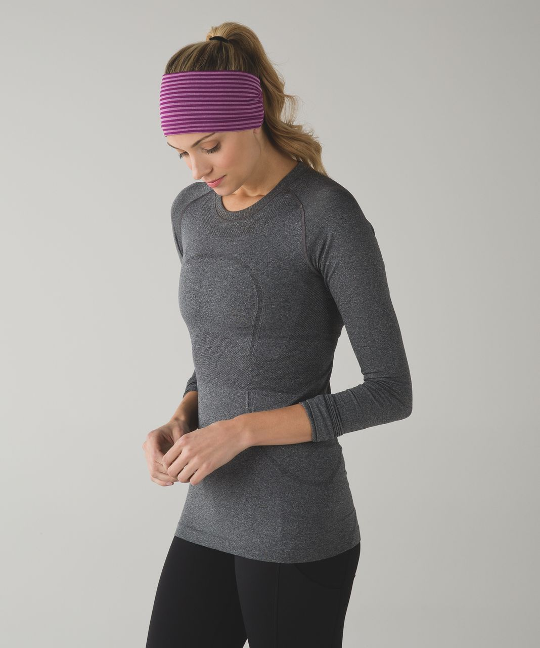 Lululemon Bangs Back Headwrap - Heathered Regal Plum
