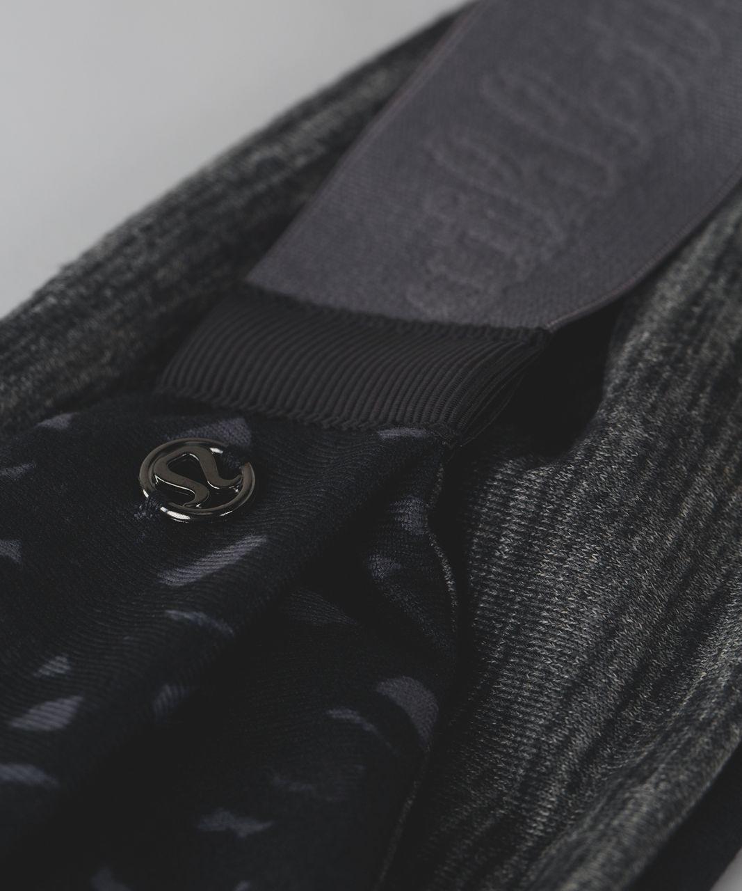 Lululemon Fringe Fighter Headband - Lace Play Dark Slate Black / Heathered Black
