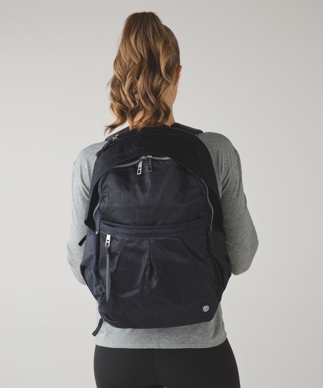 Lululemon Pack It Up Backpack Tikki Tac Embossed Naval