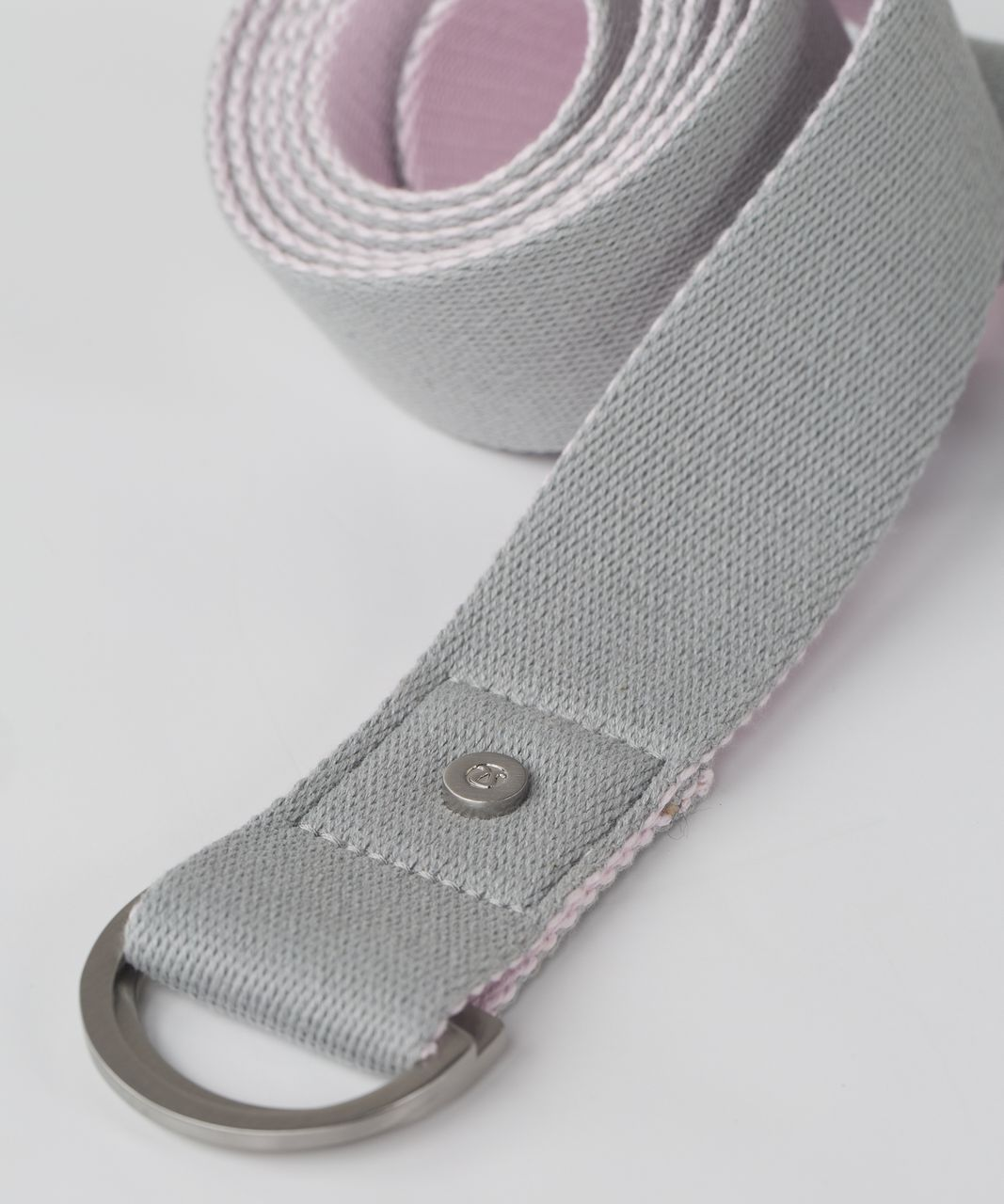 Lululemon No Limits Stretching Strap - Silver Spoon / Powdered Rose