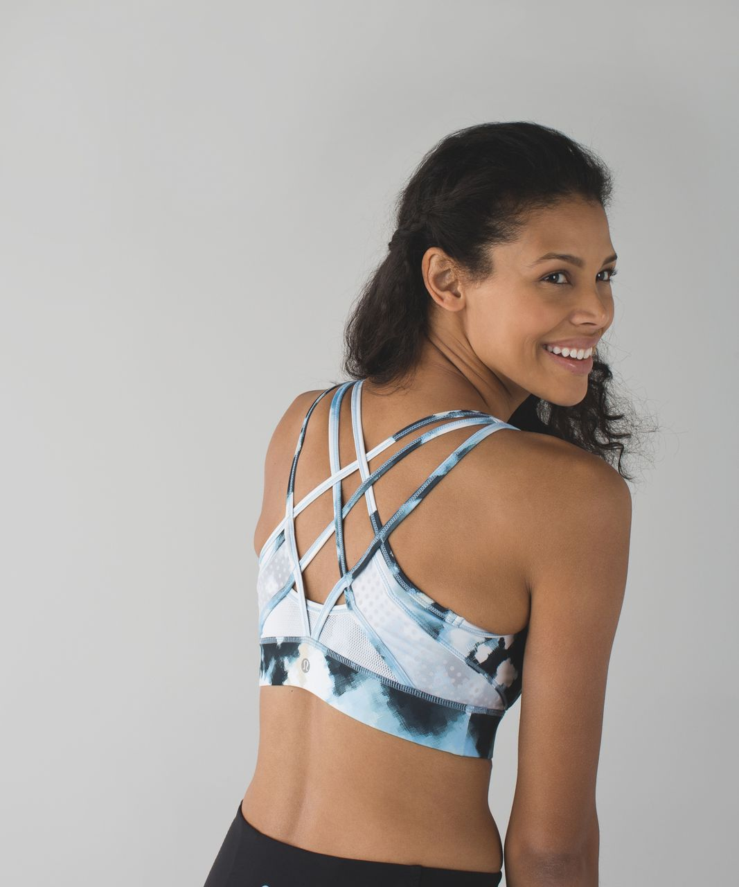 Lululemon Strap It Like It's Hot Bra - Blooming Pixie Aquamarine Multi / White