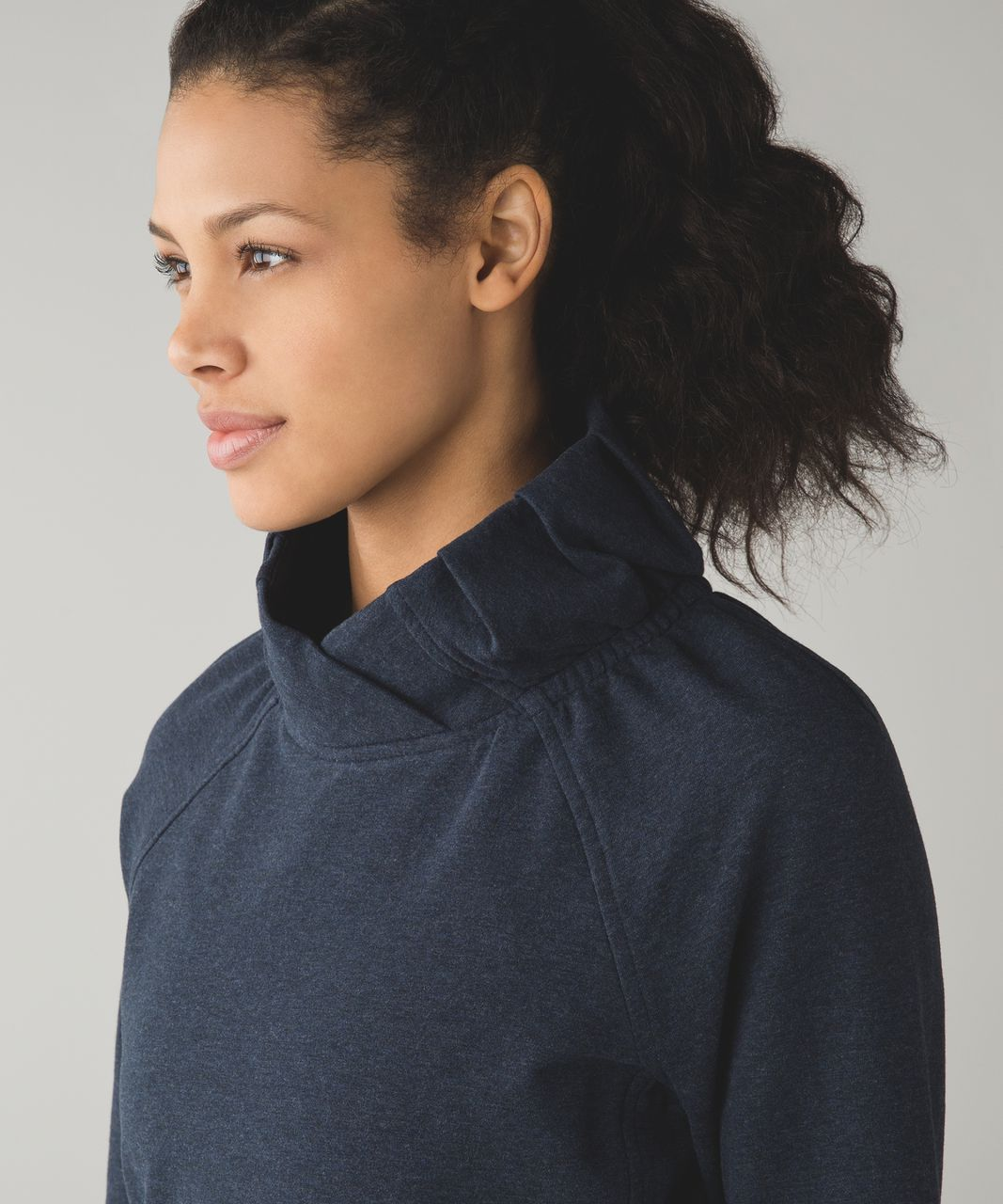 Lululemon After All Pullover - Heathered Naval Blue