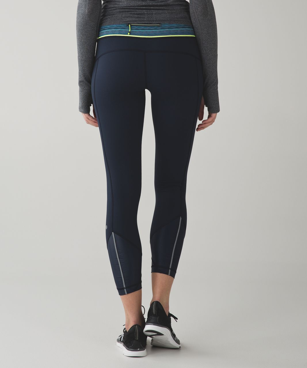 Lululemon Pace Queen Tight *Full-On Luxtreme - Inkwell / Space Dye Twist Naval Blue Peacock Blue