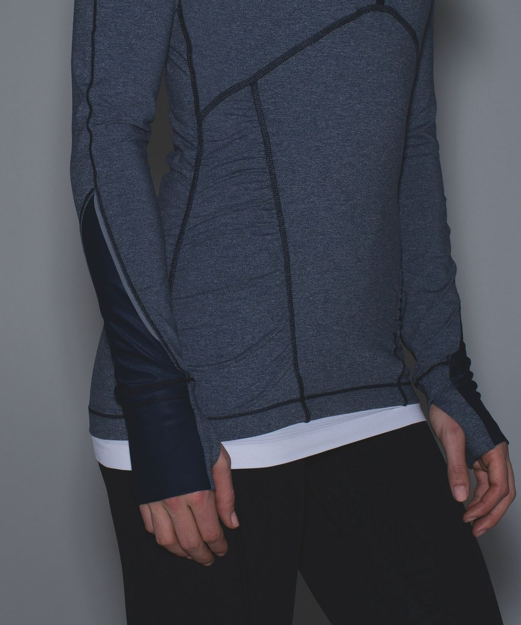 Lululemon Kriss Cross 1/2 Zip - Heathered Inkwell