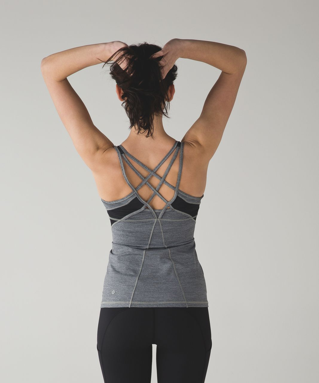 Lululemon Strap It Like It's Hot Tank - Space Dye Camo Black Dark Slate