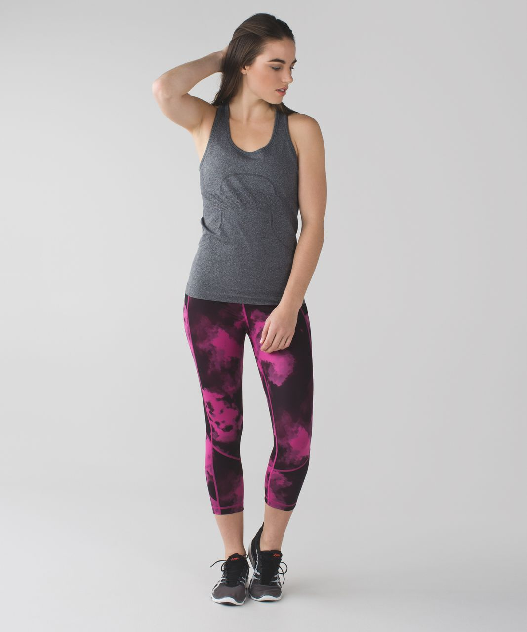 Lululemon Pace Rival Crop *Full-On Luxtreme - Blooming Pixie Raspberry Black / Raspberry