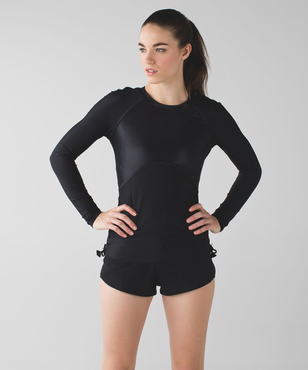 Lululemon Water:  Salty Swim Rashguard - Black