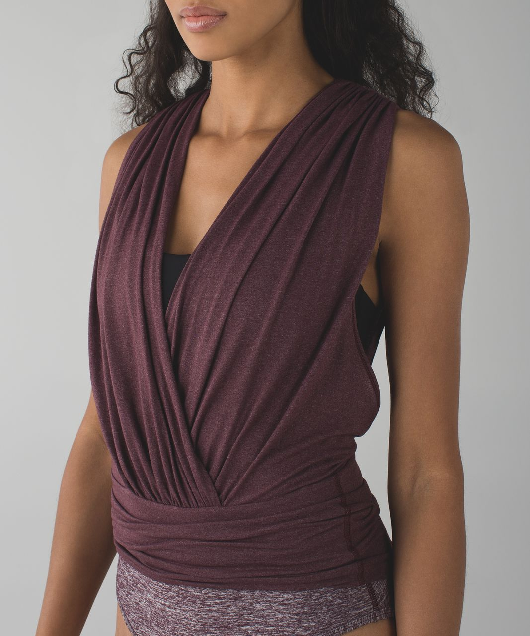 Lululemon Tonight's The Night Leotard - Heathered Bordeaux Drama