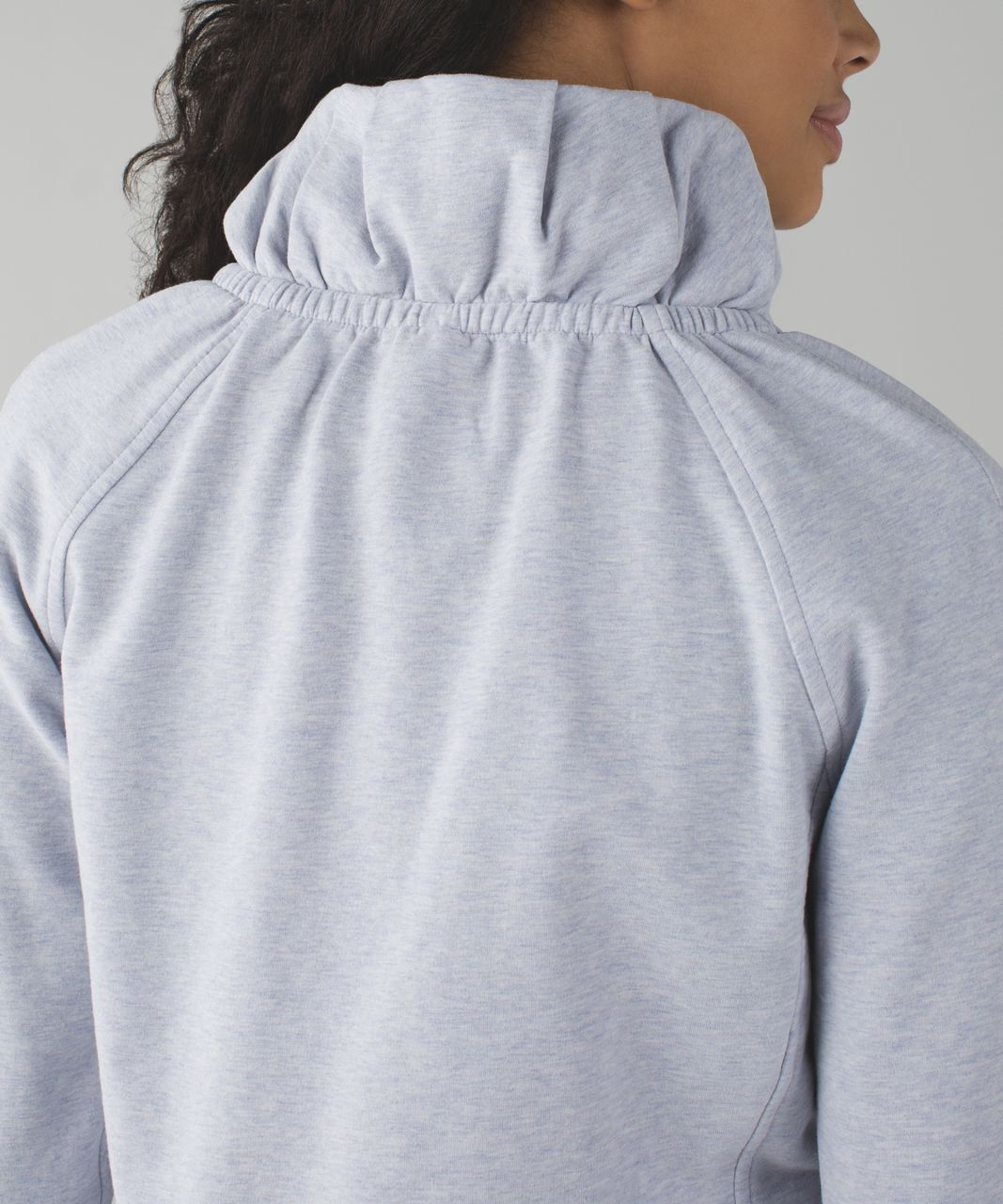 Lululemon After All Pullover - Heathered Cool Breeze