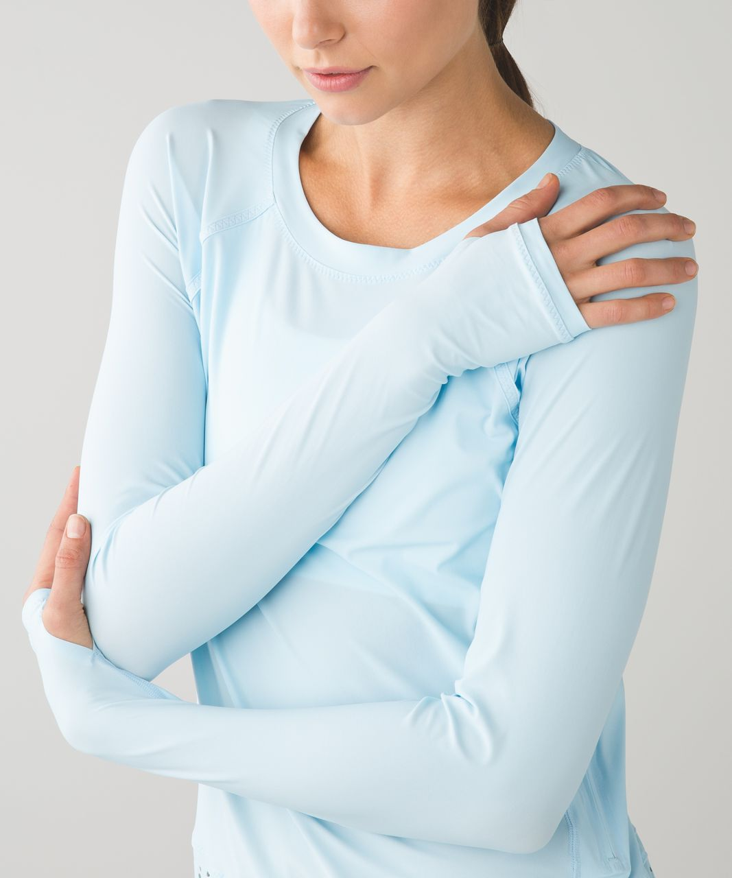 Lululemon Vent It Long Sleeve - Caspian Blue