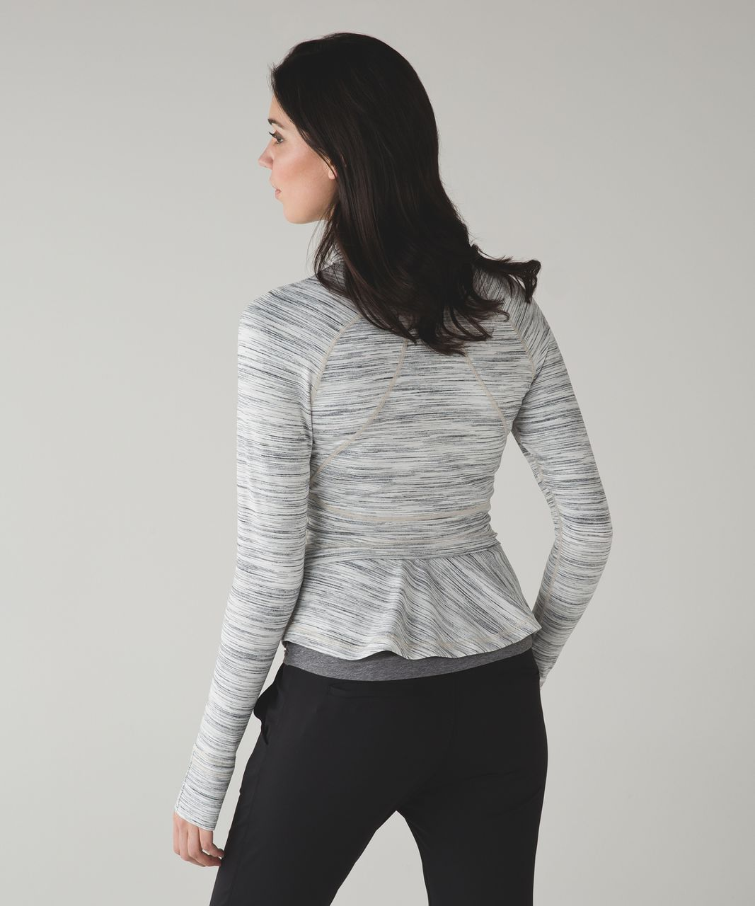 Lululemon Hustle In Your Bustle Jacket - Space Dye Camo White Silver Spoon