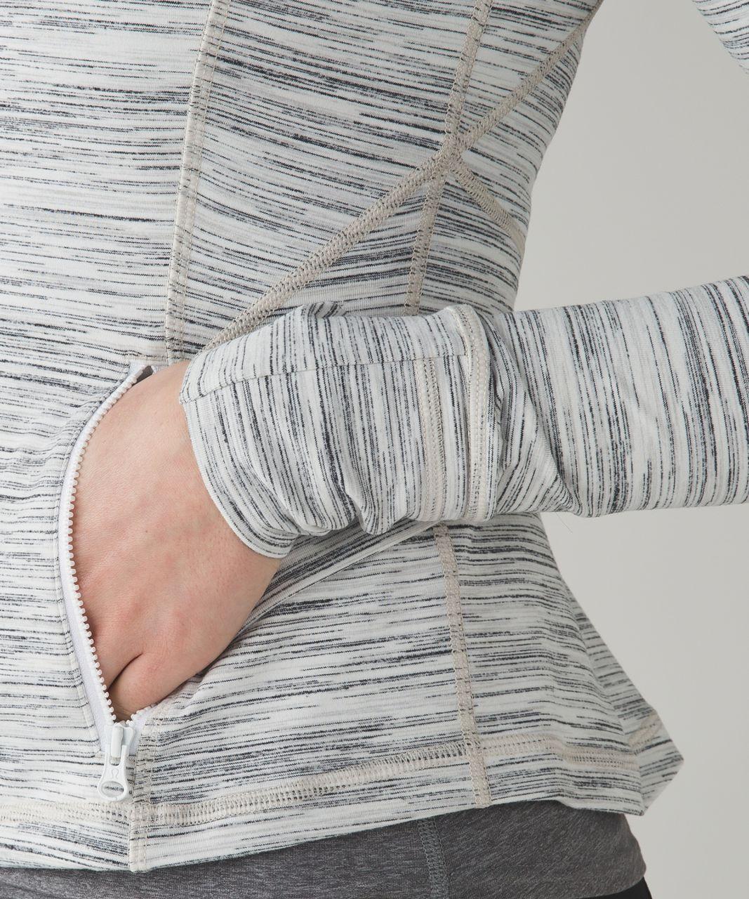 Lululemon Hustle In Your Bustle Jacket - Space Dye Camo White Silver Spoon