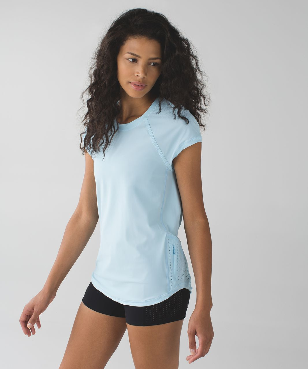 Lululemon Vent It Tee - Caspian Blue