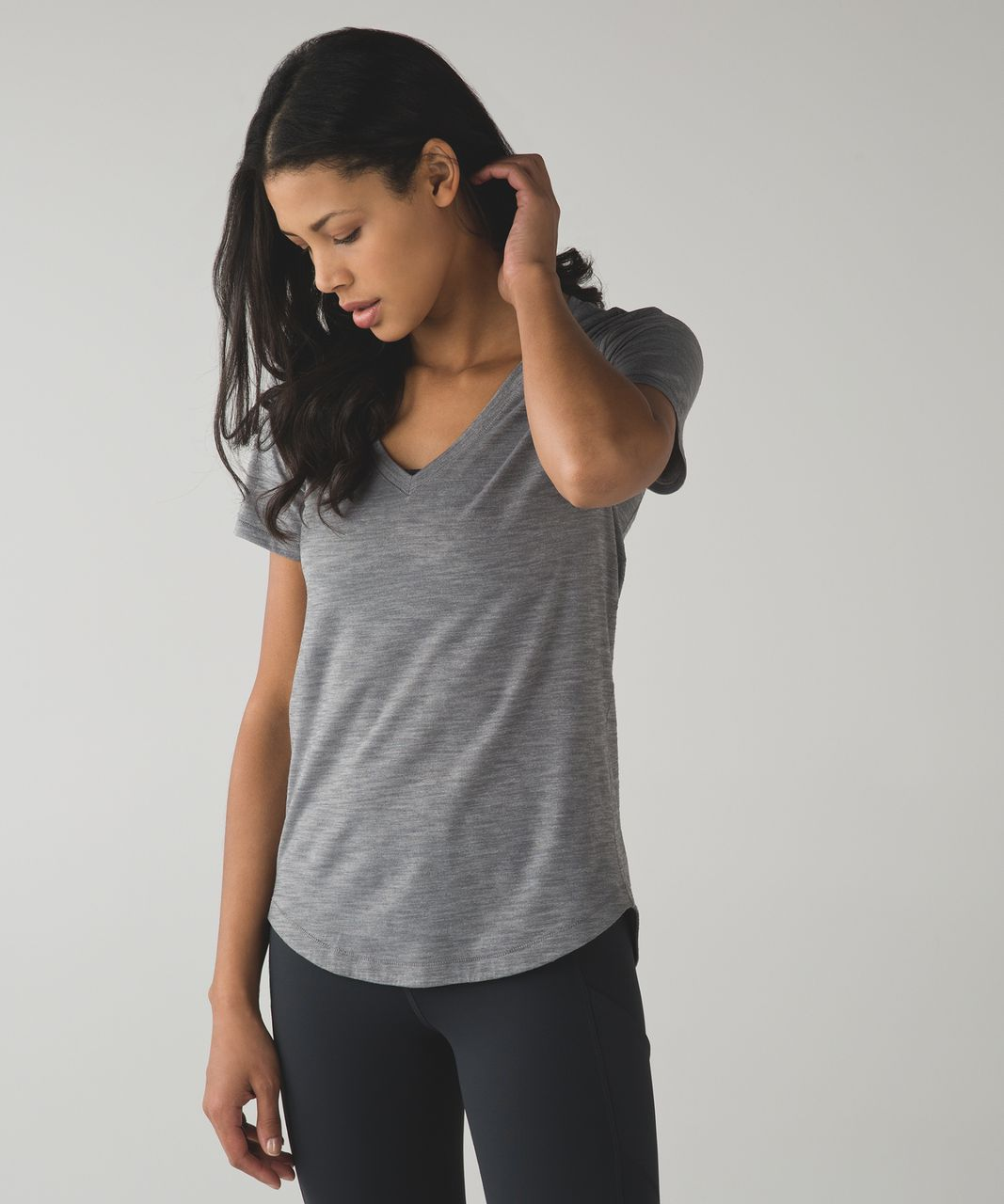 Lululemon What The Sport Tee - Heathered Slate