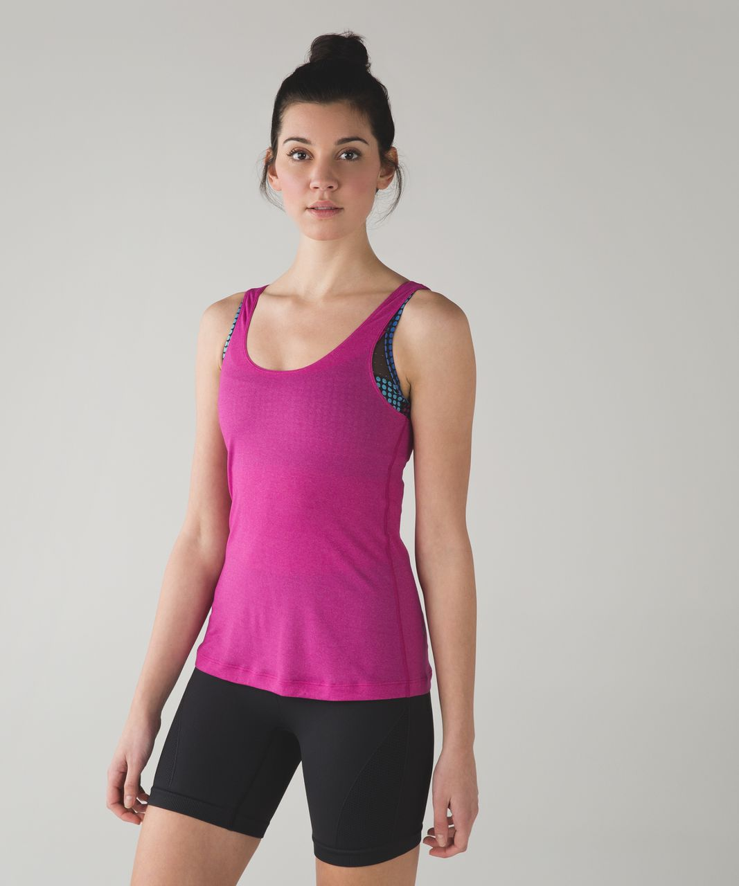 Lululemon Sweaty Endeavor Tank - Raspberry / Cosmic Dot White Multi / Black